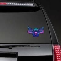 Owl Holding Skull Sticker on a Rear Car Window example