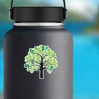 Money Tree Sticker on a Water Bottle example