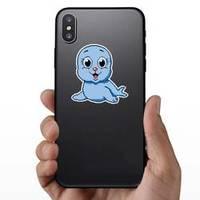 Seal Pixel Art On White Background Sticker