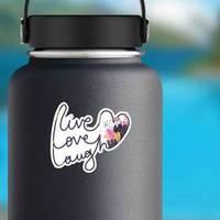 Cute Romantic Illustration Live Love Laugh Sticker