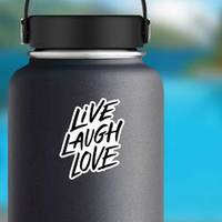 Live, Laugh, Love Handwritten Modern Lettering Sticker