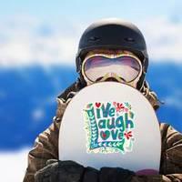 Live Laugh Love Hand Lettered Colorful Design Sticker