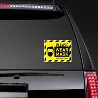 Caution Please Wear a Mask Sticker