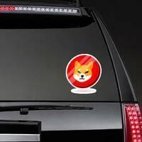 Shiba Inu Doge Coin Sticker on a Rear Car Window example