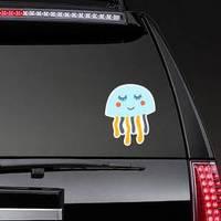 Jellyfish Illustration For Kids Smiling Sticker