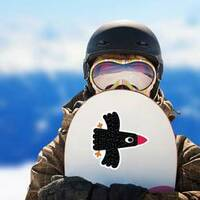 Bird In Flight Cute Cartoon Funny Crow Sticker example