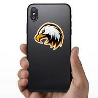Furious Eagle Mascot Sticker on a Phone example