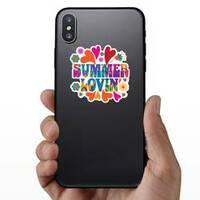 Hippie Summer Lovin Sticker on a Phone example