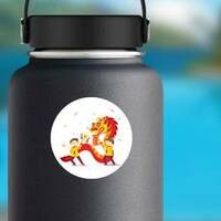 Chinese New Year Dragon on a Water Bottle example