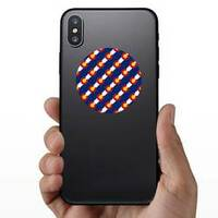 Colorado Flag, Seamless Pattern Sticker on a Phone example