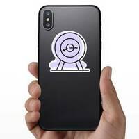 Archery With Purple Shadow Sticker example