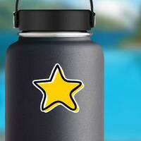 Doodle Star Sticker on a Water Bottle example