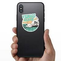 California Venice Beach Typography Sticker on a Phone example