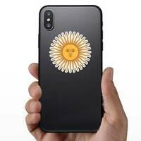 Inca Sun God Sticker on a Phone example