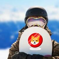 Shiba Inu Doge Coin Sticker on a Snowboard example