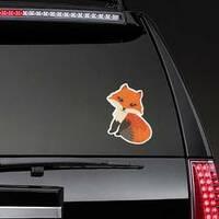 Cute Fox Posing Sticker on a Rear Car Window example