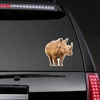 Portrait Of A Large White Rhinoceros Sticker