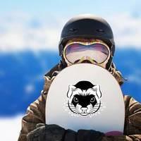 Line Ferret Head Sticker example