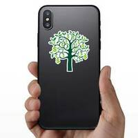 Illustration of Dollar Sign Money Tree Sticker on a Phone example