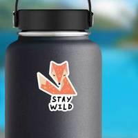 Stay Wild Bohemian Fox Sticker