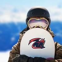 Dragon Mascot Sticker on a Snowboard example