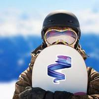 Paint Swirl Artist Brush Stroke Sticker example