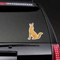 Howling Coyote Animal Cartoon Sticker example
