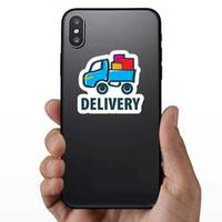 Delivery Moving Cartoon Logo Trucking Sticker example