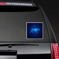 Leo Horoscope Zodiac Lion Sticker on a Rear Car Window example