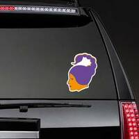 Scorpio Zodiac Sticker on a Rear Car Window example