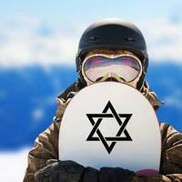Star of David Sticker on a Snowboard example