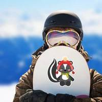 Animal Skunk In Winter Clothes Sticker