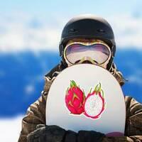 Split Dragon Fruit Sticker on a Snowboard example