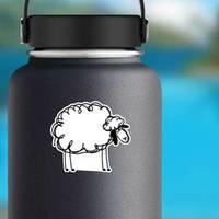 Funny White Sheep, Sketch Sticker