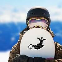 Three Headed Dragon Sticker on a Snowboard example