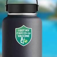 Covid-19 Vaccine Shield Sticker example