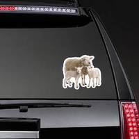 A Ewe With Her Two Lambs Sticker