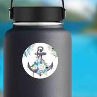 Watercolor Nautical Anchor Design Sticker example