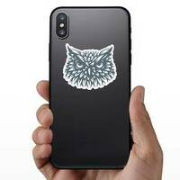 Owl Head Sticker on a Phone example