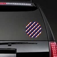 Colorado Flag, Seamless Pattern Sticker on a Rear Car Window example
