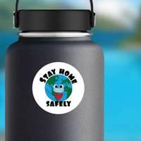 Stay Home Safely Globe Sticker