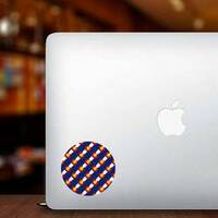 Colorado Flag, Seamless Pattern Sticker on a Laptop example