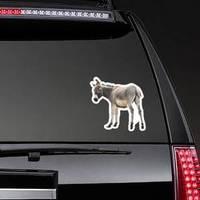 Donkey Isolated A On White Sticker
