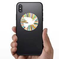 Colorful Dove Bird Shape In Fun Colors Sticker example