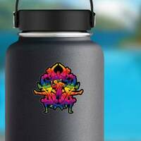 Group Of People In A Street Dance Team Sticker on a Water Bottle example
