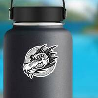 Chinese Dragon Mascot Sticker on a Water Bottle example