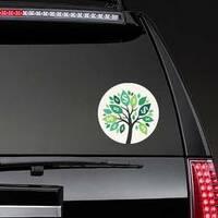 Illustration of Money Tree Sticker on a Rear Car Window example