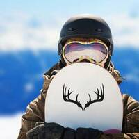 Deer Antlers Transfer Sticker on a Snowboard example