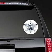 Butterfly Double Exposure Hippie Sticker on a Rear Car Window example