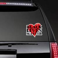 Black Lives Matter Text On Heart Sticker example